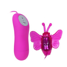 ORISSI 12 Speed Vibration Wired Butterfly Vibrator Clitoris Massager for Women Wired Control Egg Vibrator For Women