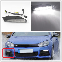 Right Side Light For VW Golf 6 R20 2009 2010 2011 2012 2013 Car Styling LED DRL Daytime Running Light Waterproof Wire Of Harness