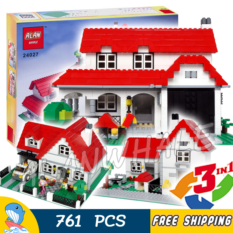 цены 761pcs 3in1 Creator House 24027 DIY Model Building Blocks Toys Bricks Compatible with Lego