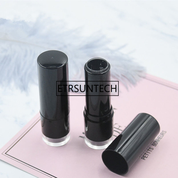 12.1MM Black Empty Lipstick Tubes DIY Lip Gloss Lip Balm Containers Refillable Cosmetic Tool F1249