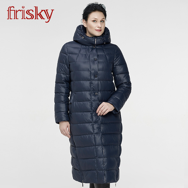 3eb47e669 US $56.91 47% OFF 2017 Frisky New Women's Winter Jackets Thick Warm Wind  Down Jacket Female Fashion Casual Parkas Plus Size FR 6622-in Parkas from  ...