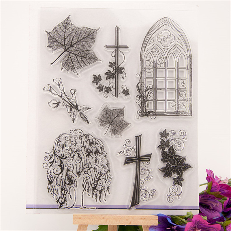 leaves and trees Stamp DIY Scrapbooking for wedding gift christmas gift for paper card Transparent stamp CC-139 abm sharif hossain and fusao mizutani dwarfing peach trees grafted on vigorous rootstocks