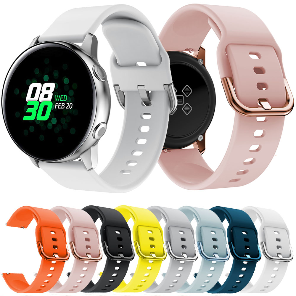20mm Silicone Band For Samsung Galaxy Watch Active Strap For Samsung Gear S2 Sport Classic Watchband Bracelet For Garmin 645