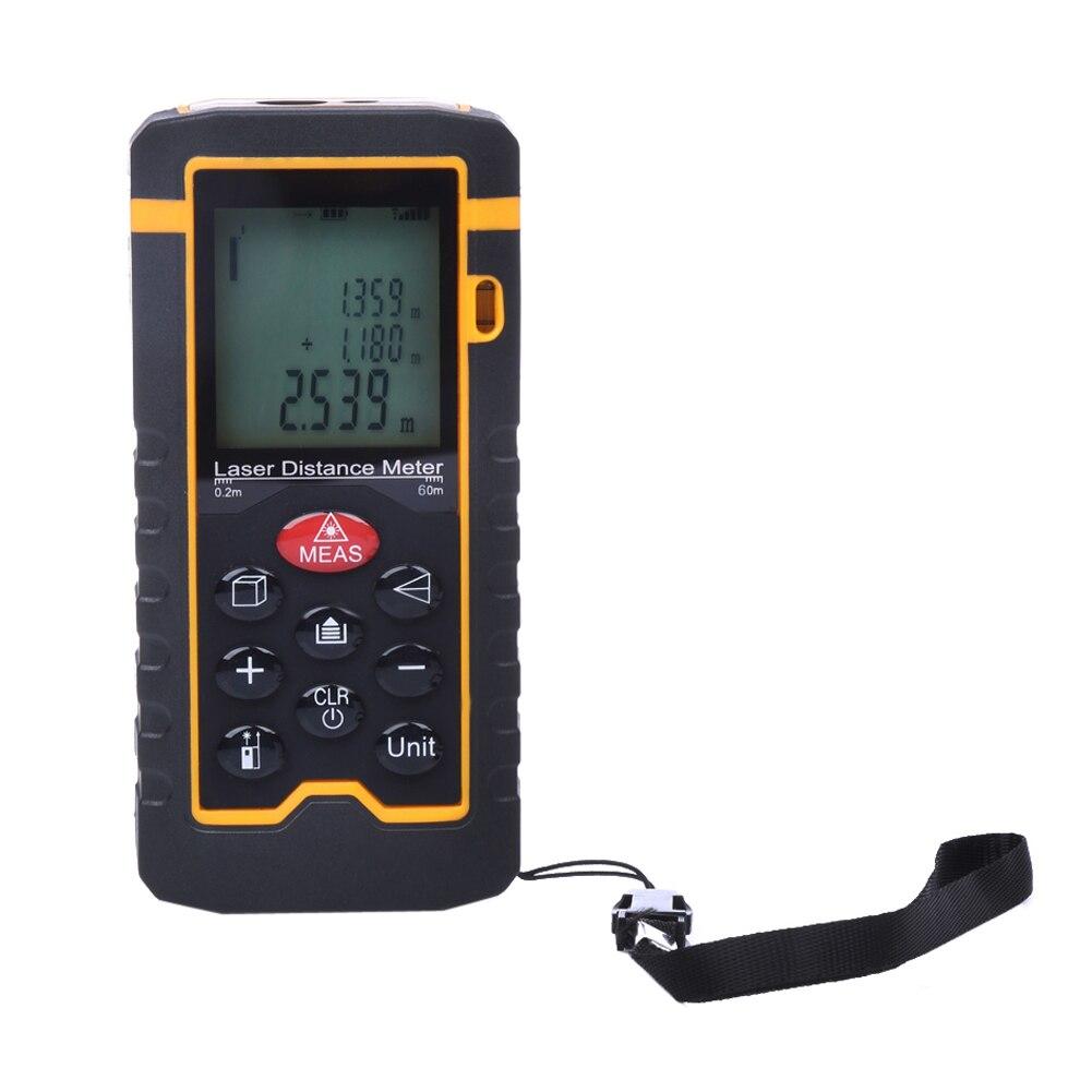 ФОТО 9 Key 60M/197ft/2362in Laser Distance Meter Range Finder Measure Diastimeter