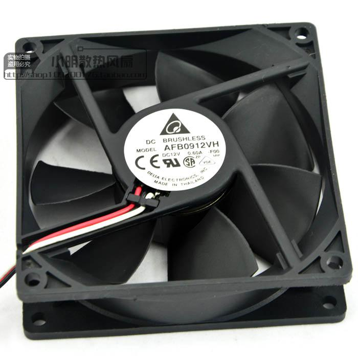 Delta AFB0912VH 9cm 90mm 90*90*25MM 9225 DC 12V 0.60A  Computer Cpu Cooling Fans
