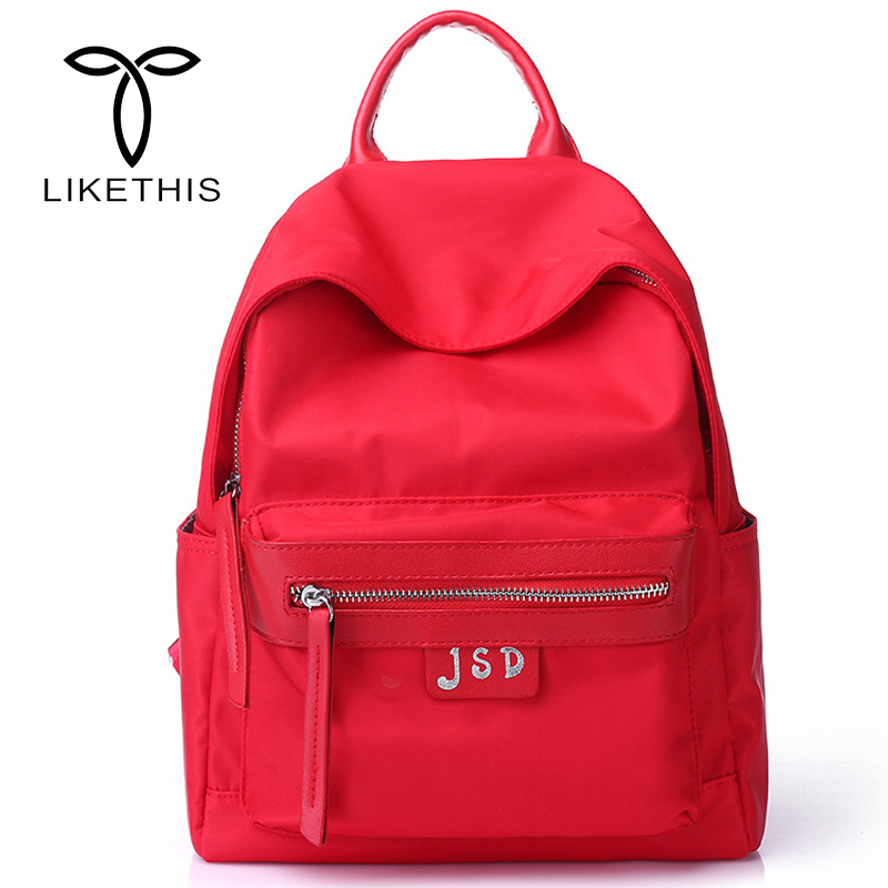 Women Backpack Waterproof nylon School Bags Students Backpack Women Travel Bags Shoulder Bag for Teenager Girls -j1308 ...