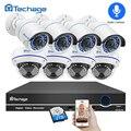 Techage 8CH 1080 P POE NVR registro de Audio CCTV, sistema de seguridad 2MP cúpula cámara IP IR-CUT P2P de interior al aire libre de vídeo kit de vigilancia de
