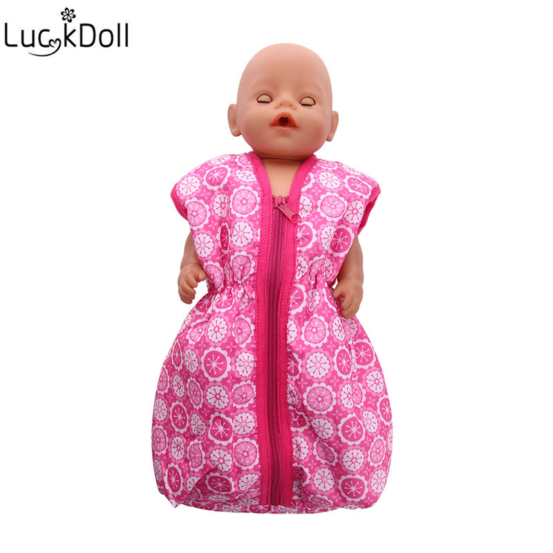 Doll Sleeping Bag Fit18-inch American 43cm Doll Clothes Accessories, The Best Christmas Gift For Children