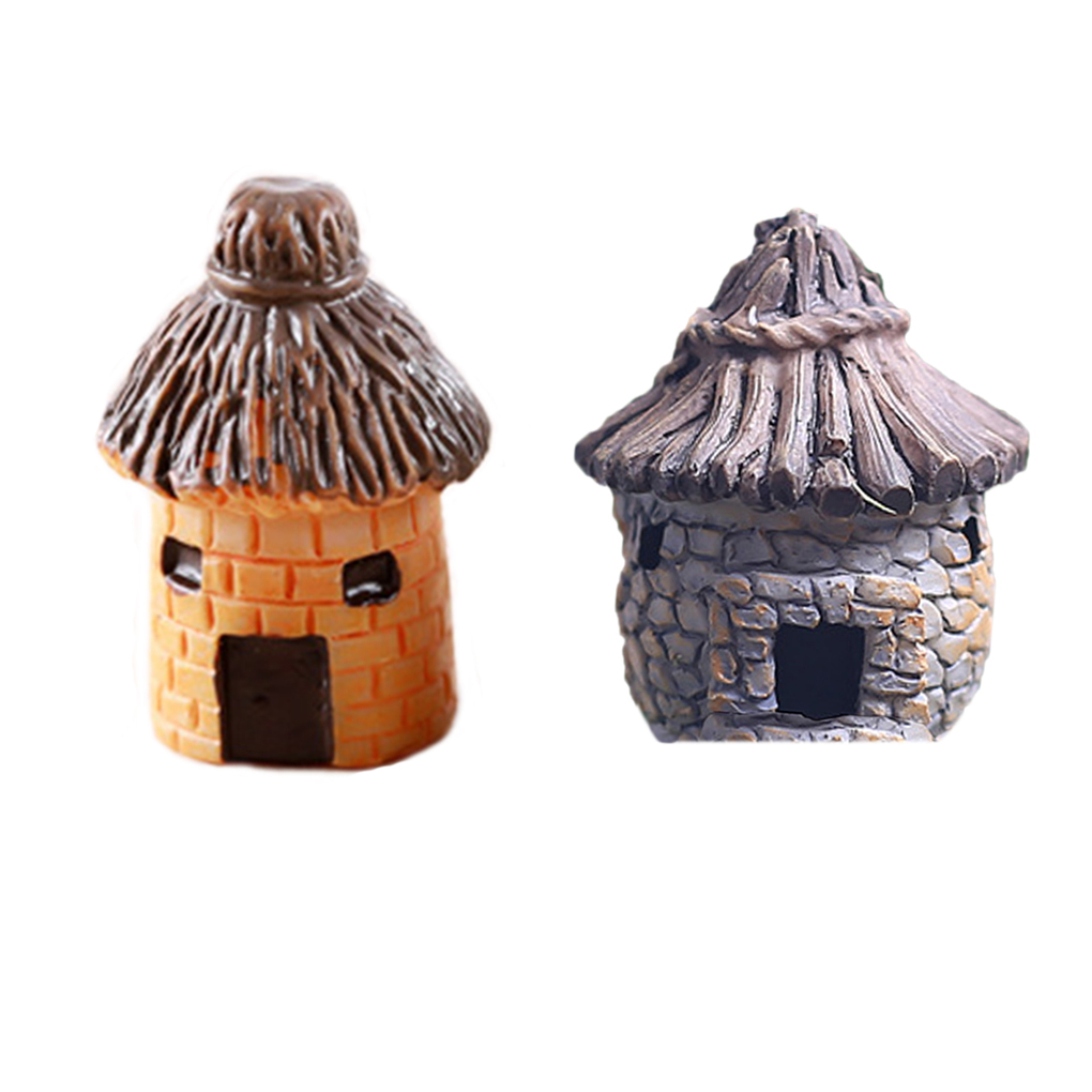 New Arrived Fairy Cottage Landscape Decor Resin House Garden Ornament(China)
