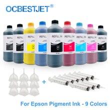 9x500ML evrensel Pigment mürekkep dolum mürekkep için Epson SureColor P600 P800 P6000 P7000 Stylus Pro 7890 9890 3800 3880 11880