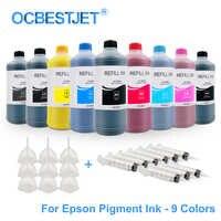 Kit d'encre de recharge d'encre pigmentée universelle 9x500 ML pour Epson SureColor P600 P800 P6000 P7000 stylet Pro 7890 9890 3800 3880 11880