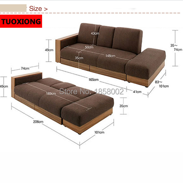 Soft Sofa Bed Living Room Furniture Set Folding Sleeping Beds An Style Fabric In Sofas From On Aliexpress