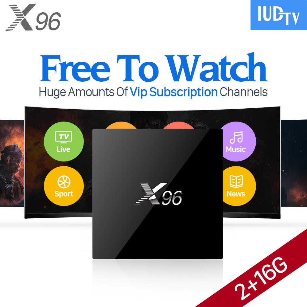 X96 Android 6.0 Iptv Box Europe Arabic Smart TV Box For Spain Portugal Turkish Netherlands IUDTV IPTV Media Player gotit cs918 android 4 4 tv box with 1year arabic royal iptv europe africa latino american iptv rk3128 media player smart tv box