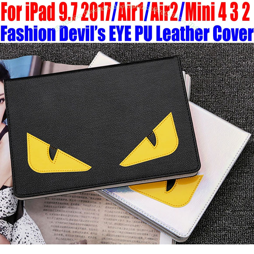 Smart Case For IPad 9.7 2017 Air/Air2 For iPad mini 4/3/2/1 Fashion Devil s EYE PU Leather Cover for iPad 4/3/2 IM414 air air twentyears 2 lp