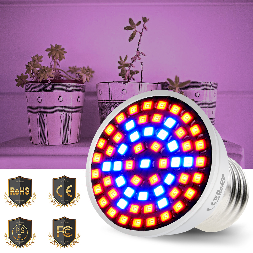 CanLing 4W 6W 8W E27 Led 220V Phyto Lamp E14 LED Fitolampy GU10 LED Bulb For Plant 2835SMD B22 Grow Light MR16 Growing Spotlight
