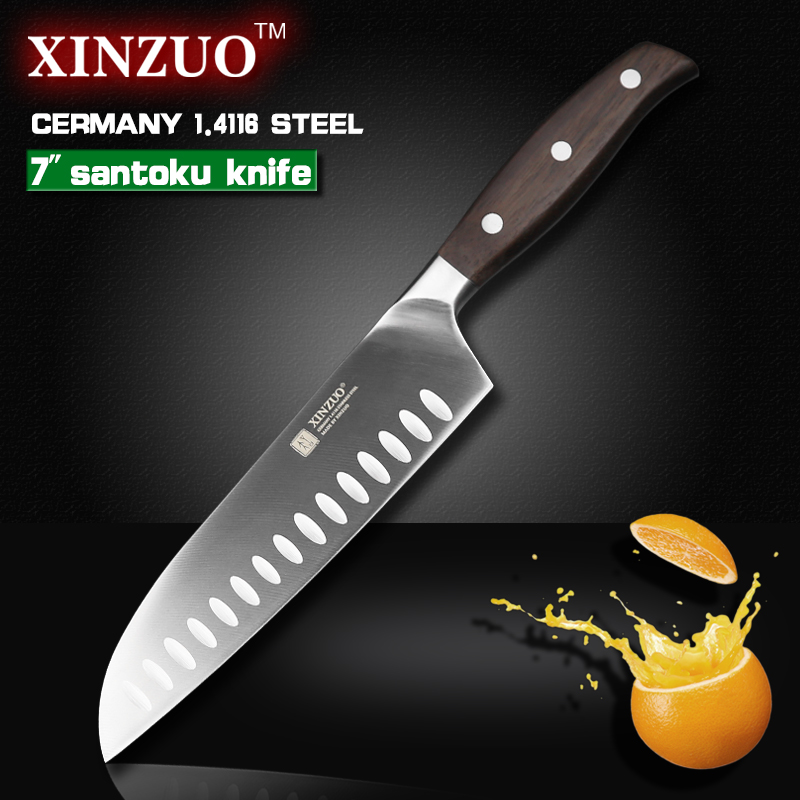 XINZUO 7 inch Japanese chef font b knife b font German steel kitchen font b knife