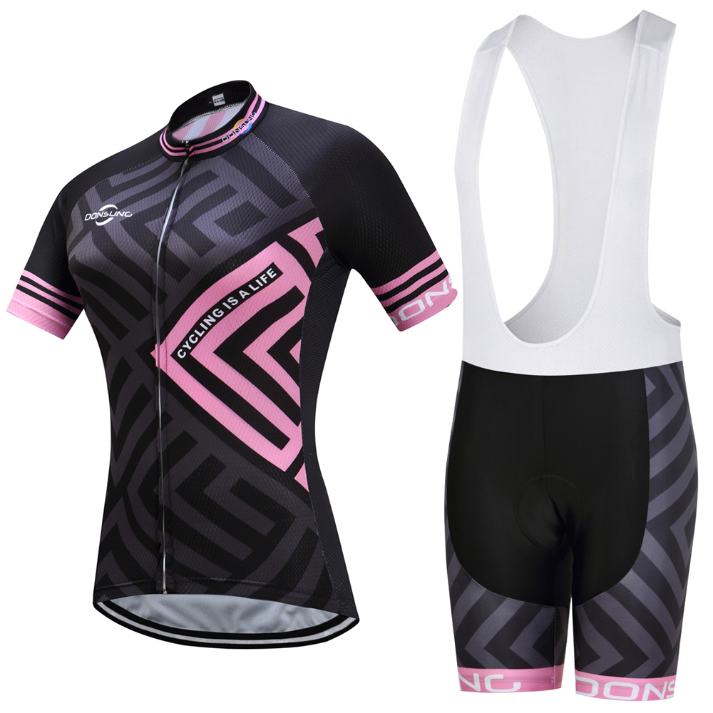 Summer pro mtb bike cycling jersey Womens Breathable 3D gel pad Cycling Clothing Sets short Sleeve outdoor sport Cycling Set