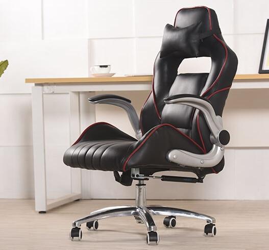Chaise d'ordinateur de réseau de bureau à la maison peut poser la chaise de patron chaise en cuir personnalisée chaise de voiture de course électrique chaise de siège