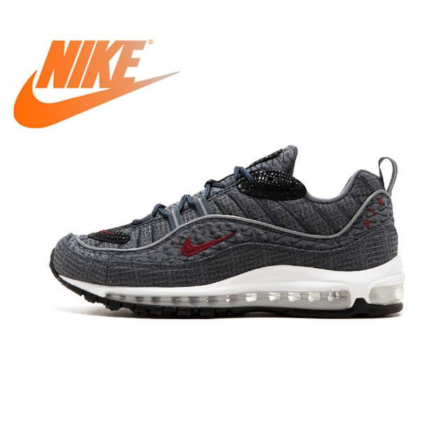 Original Authentic Nike Air Max 98 QS CONE Men's Comfortable Running Shoes Sport Outdoor Sneakers Athletic Designer 924462 400