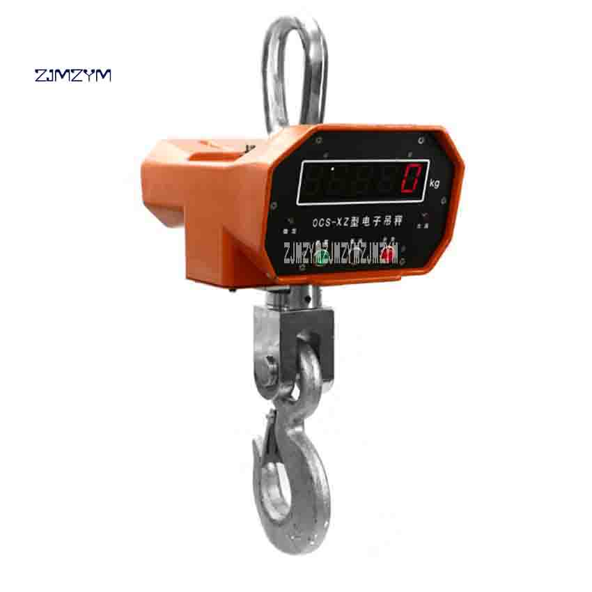 Zjmzym электронный кран Весы OCS XZ 10 т типа Алюминий В виде ракушки светодиодный цифровой висит Весы 10 т /5 кг промышленных крюк Весы Лидер продаж