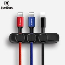 BASEUS Прочный Магнитный кабельный зажим usb-кабеля Кабельный организатор зажим для рабочего рабочей станции провод шнур с 3 шт. Переключить Клип
