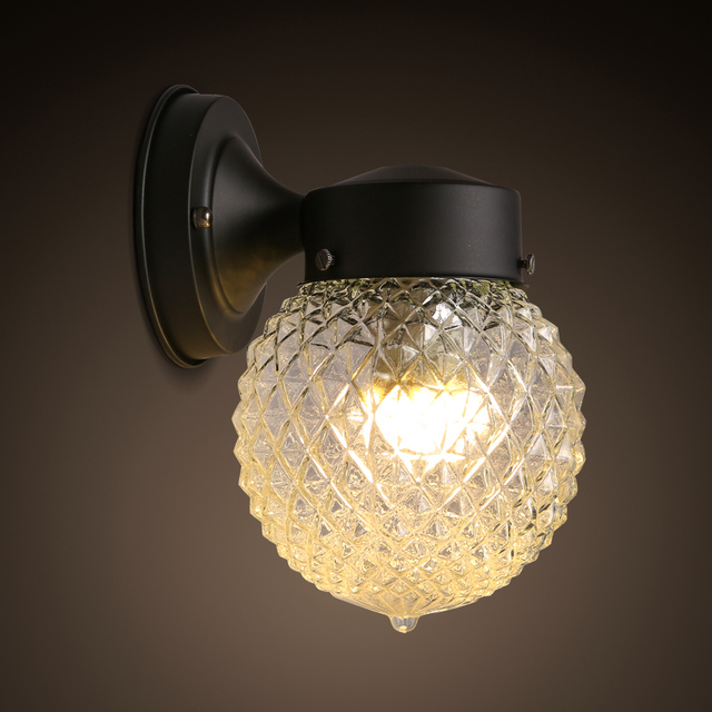 Moderne br ve personnellement Loft Vintage Ameican boule de verre de fer led applique murale lampe.jpg 640x640 5 Unique Applique Murale Boule Verre Ojr7