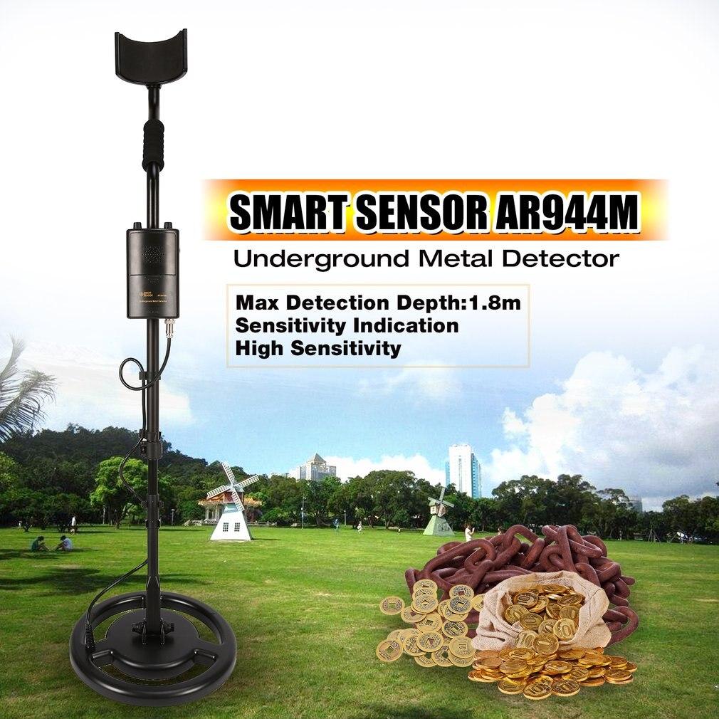 AR944M détecteur de métaux souterrain professionnel réglable or argent trouveur traqueur de trésor chercheur 1.8 m de profondeur