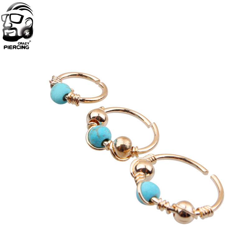 Piercing ring gold ohr