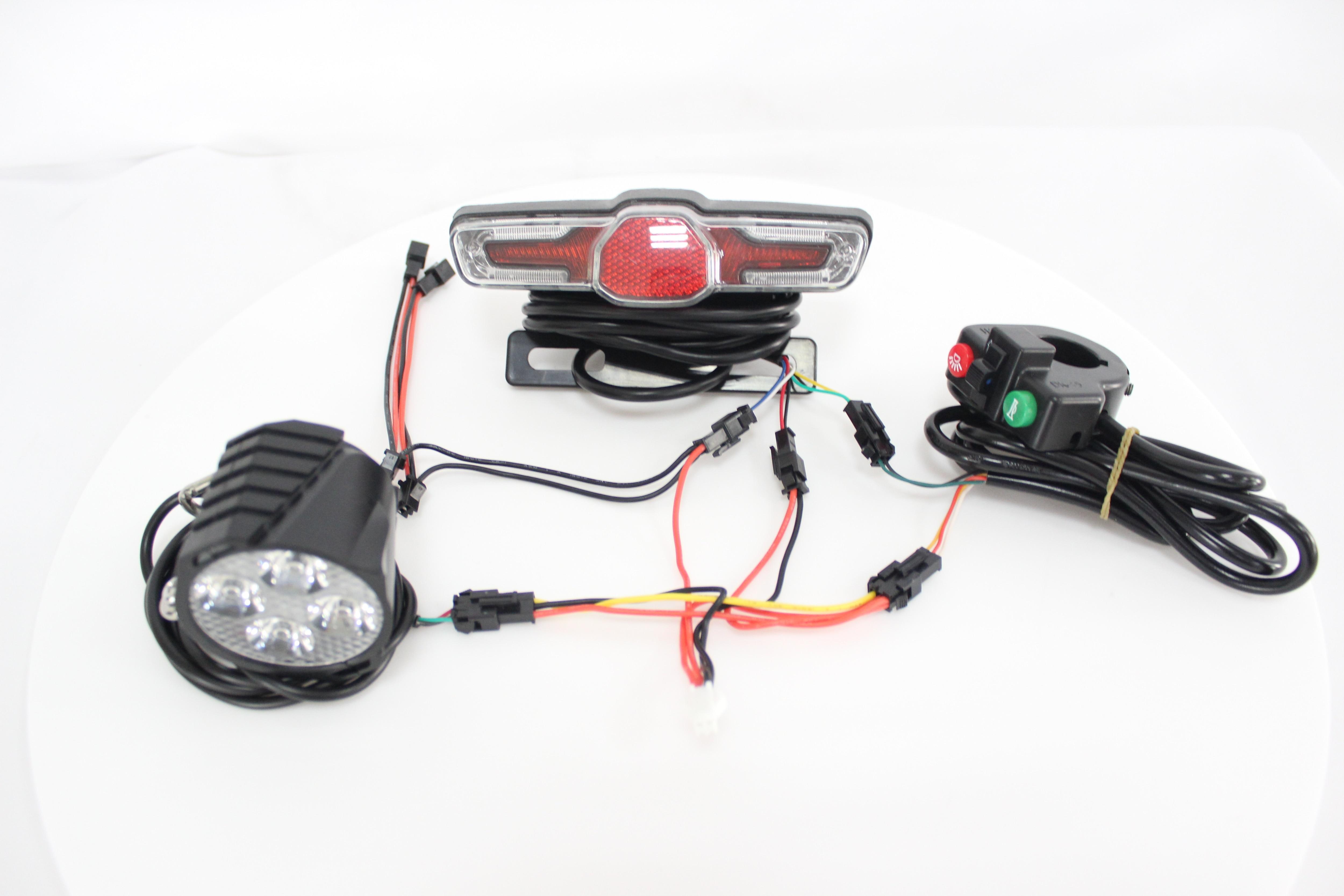 24~60V Universal Ebike Headlight Tail Rear Lights LED Brake Light Electric Bike
