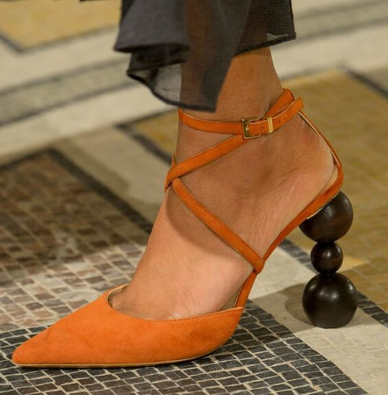 Drop Shipping Brand Woman Solid Brown/Black/Orange Cross Buckle Strap Strange Wood Blocks Heels Pointed Toe Sexy Party PumpsDrop Shipping Brand Woman Solid Brown/Black/Orange Cross Buckle Strap Strange Wood Blocks Heels Pointed Toe Sexy Party Pumps
