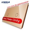 Livolo Luxury Golden Pearl Crystal Glass, 151mm*80mm, EU standard, Double Glass Panel,VL-C7-C1/C1-13