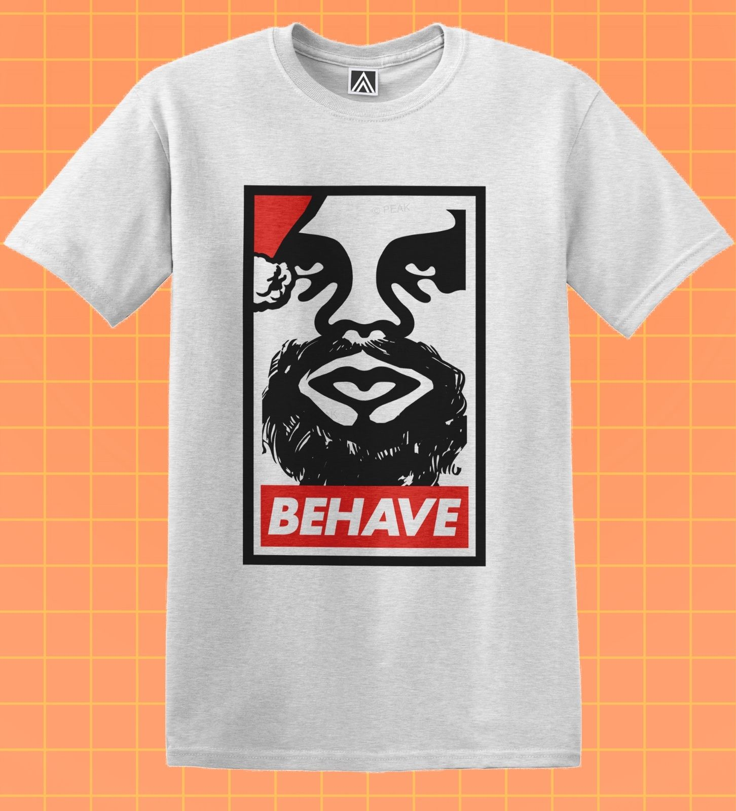 Santa Behave Disobey T-shirt Christmas Novelty Gift Tee Xmas Skater Swag Top