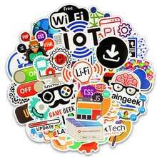 цена на 50Pcs Stickers Internet programming Stickers Internet Html Cloud programmer Language Funny Laptop Pad Phone Sticker programmer