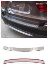 PARA BMW X3 F25 2011-2013 Exterior de Acero Inoxidable Exterior Placa Paragolpes trasero Ajuste de La Decoración 1 unids Brillante NUEVA Llegada!