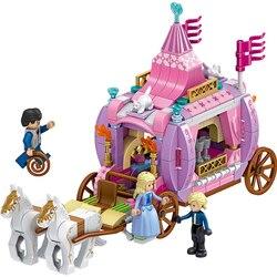 Новый конструктор Золушка Принцесса КОРОЛЕВСКАЯ КАРЕТА фигурки принцесс Legoinglys друзья Блоки Кирпичи Модель игрушки подарок для девочек