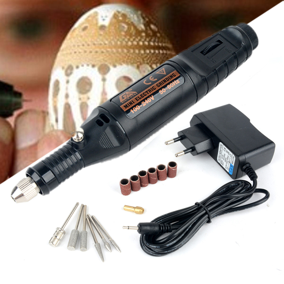 1pc DC 12V Mini Electric Engraving Pen DIY Mini Engraving Machine Hand Drill Set For Jewelry Metal Power Tool diy craft mini electric engraving chisel for wood jewelry electric hand drill grinding polishing miniature engraving machine