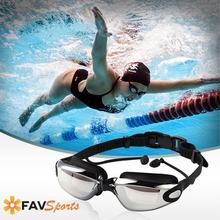 2018 Hot Anti-Fog Swimming Goggles For Men Women UV-Protection Waterproof Silicone Swim Eyewear With Earbud Diving Glasses(China)