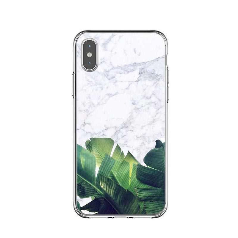 94e82dae80 ... Golden pineapple Banana leaf For iPhone X XS Max Xr Luxury Geometric  Marble Clear PC Case