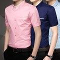Летние мужчины смокинг рубашку молодых мужчин бизнес случайный офис рубашка с коротким рукавом