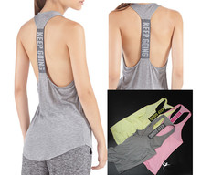 women Performance raceback sport tank tops loose fitness running breathable sports shirt workout quick dry vests