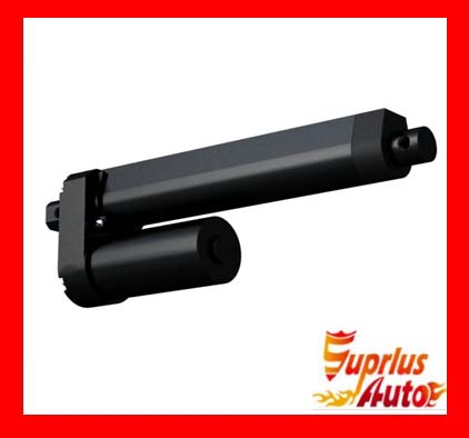 Waterproof 15 / 375mm Stroke 12 / 24V Heavy Duty Linear Drive, Maximum Load 3500N / 350KGS / 770LBS Black Linear Drive