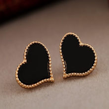 2018 hot new fashion European and American ears jewelry full of love drip earrings for girls cute gift for party(China)