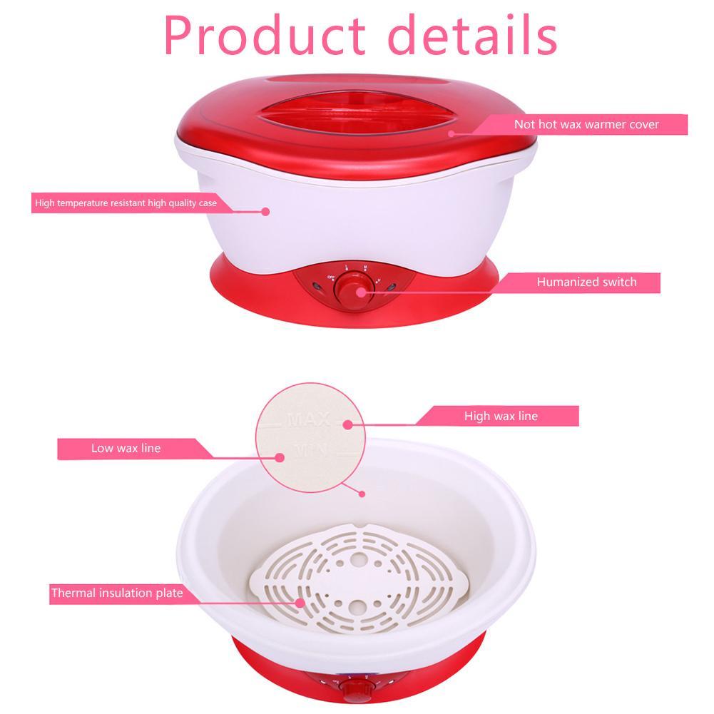 EU Plug Wax Warmer Machine Smart Constant Temperature Wax Heating Beauty Salon Manicure Tool Hair Removal Heating Wax Machine - 2