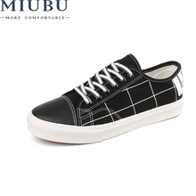MIUBU 2019 Men Casual Shoes Fashion New Lace-Up Breathable Lightweight Summer Footwear Leisure Sneakers