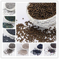 11/0 Electroplated Glass Seed Beads for DIY Jewelry Making, Iris Round, 2x1.5mm, Hole: 0.3mm; about 3300pcs/50g