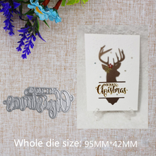 2019 New Arrival Letter Merry Christmas in the Circle Metal  Cutting Dies Stencil DIY Scrapbooking Embossing Decorative 95x42mm