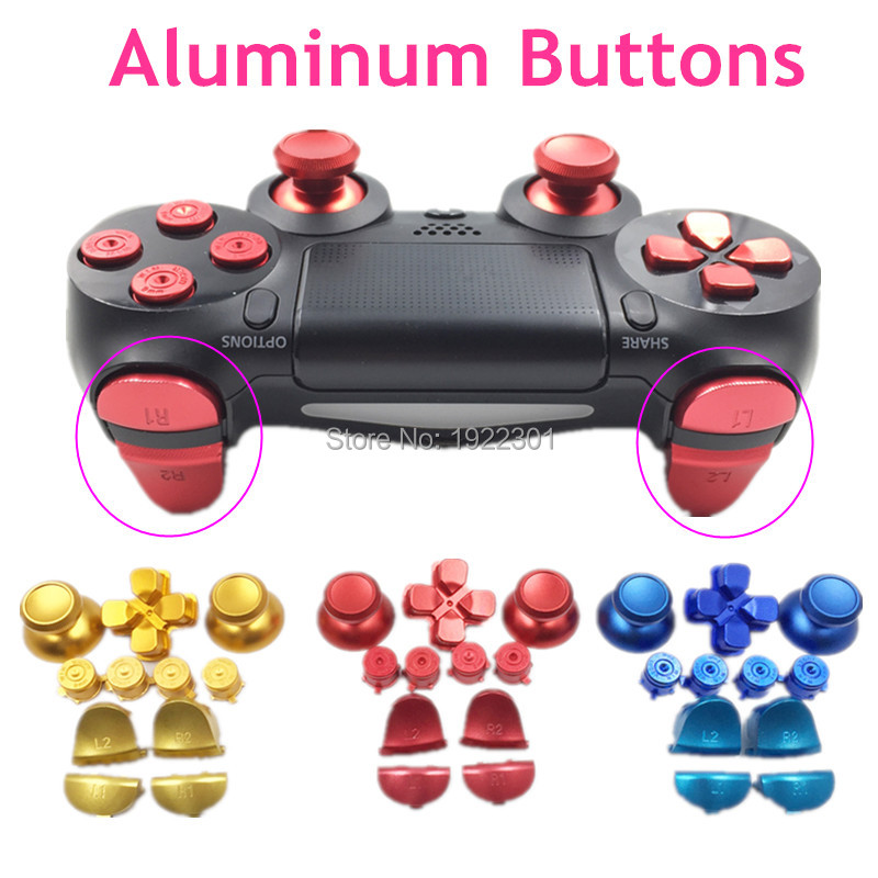 Metal Silver Joysticks Thumbsticks Bullet Boutons pour Playstation PS 4