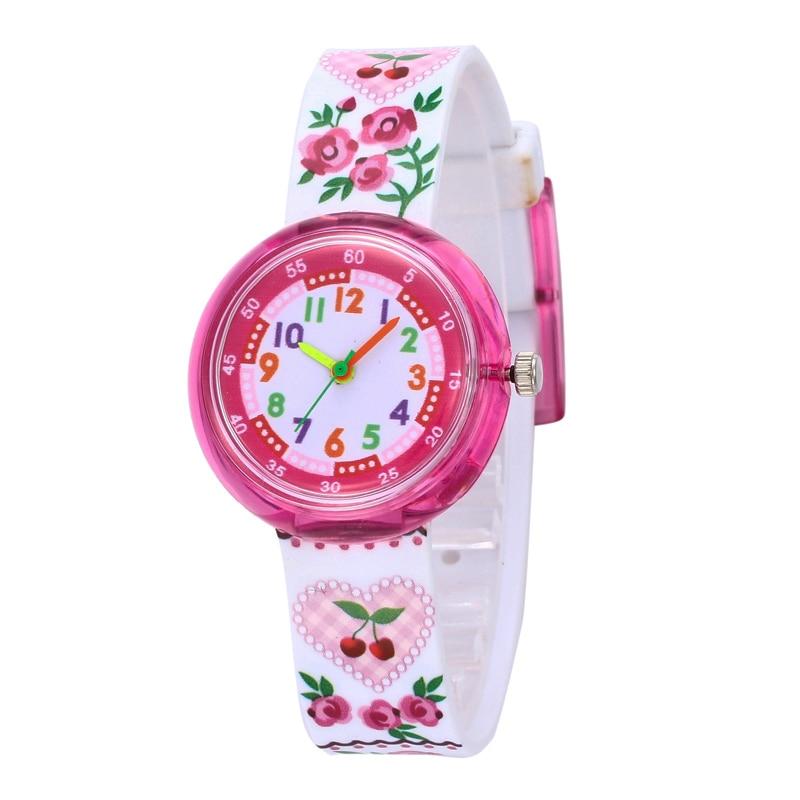 Watch Kids 11 Designs Christmas Gift Cute Flower Girl Watch Children Fashion Watch Sports Jelly Cartoon New Boy Reloj Infantil