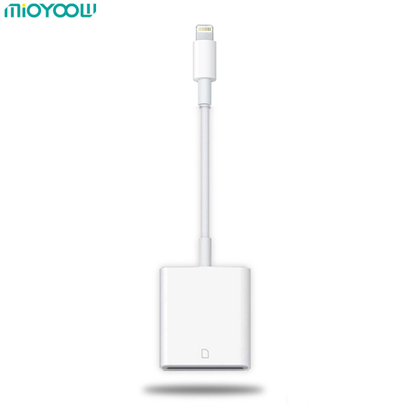 SD Card Reader Micro SD OTG Smart Camera Card Reader Lightning Adapter for iPhone iPod Apple Memory Cards SD Adapter No APP Need llano card reader mini usb 2 0 sd micro sd tf otg smart card reader for samsung kingston memory cards reader usb sd adapter