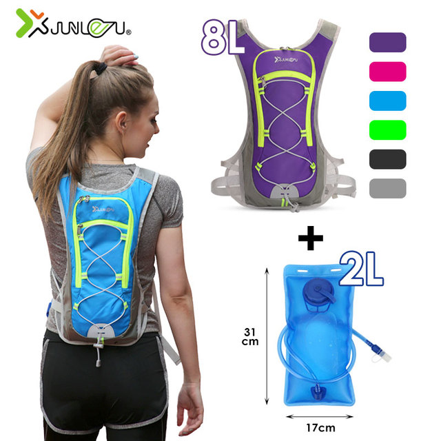 8L naylon yelek çalışan sırt çantası spor hidrasyon bisiklet maraton koşu erkek kadın çantası su geçirmez Run spor aksesuarları